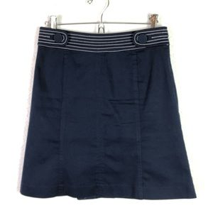Lilly Pulitzer Navy Stretch A-Line Skirt